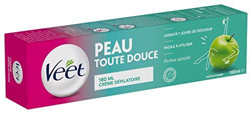 Veet - Crème Dépilatoire Parfum Pomme - 180ml - lot de 3 crèmes