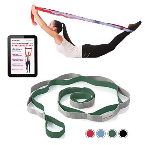 sport2people Correa de Yoga para Estiramiento y recuperación – Banda de...