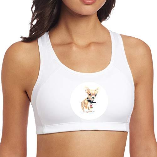 Las Mujeres se divierten los Sujetadores,Perrito Pintado a Mano,Camisetas sin Mangas S de la Aptitud del Activewear del Gimnasio de la Yoga del Entrenamiento