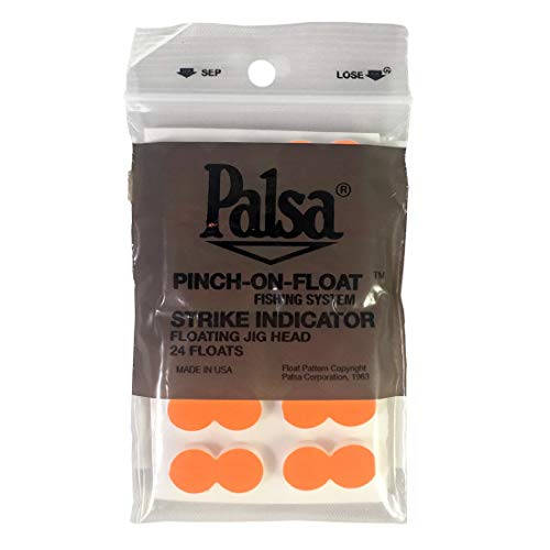 Yellowstone Fly Goods, Palsa Strike Indicator Pinch-on-Floats (24ct, Flame/Orange)