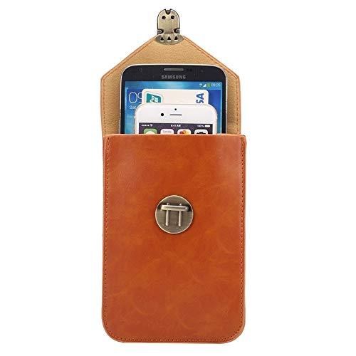 Wckxy Caja de teléfono de 5.7 Pulgadas Moda Universal Vertical Crazy Horse Texture Tres Capas Cubierta de Cuero multifunción/Bolsa de Cintura for iPhone 6 Plus y 6S Plus, Galaxy S7 Edge / G935 y S6