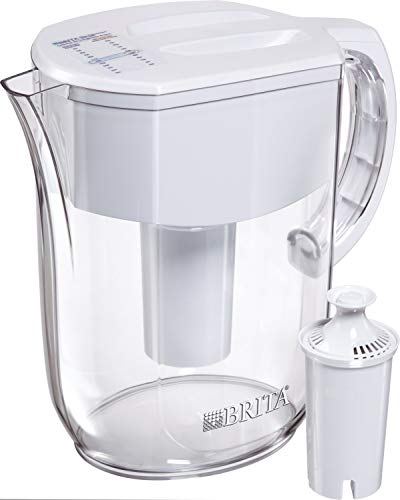 Brita Water Pitcher with 1 Filter, w 1 std, White