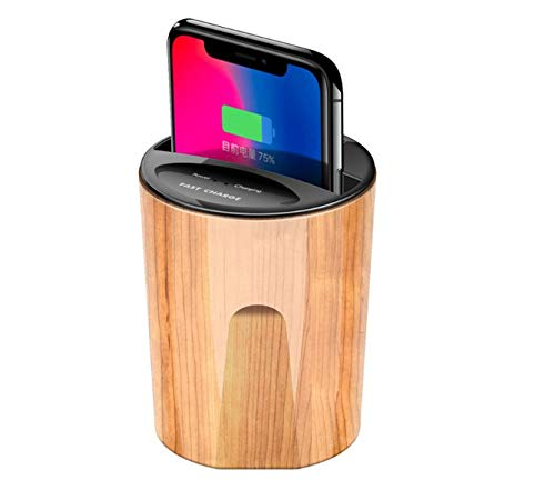 DrPhone SCION-X - Auto Car Fast Wireless Charger Cup ? Qi Draadloze Oplader ? Voor alle auto?s met een kophouder - Bamboo