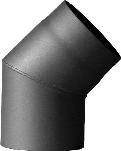 Jeremias Ofenrohr-Bogen 150 mm, 45 Grad, grau, FERRO3410150