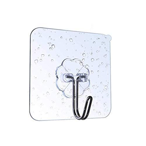 Gancho de plástico sin perforaciones, adhesivo fuerte que no deja marcas, para cocina, baño, pared, puerta trasera, gancho para abrigos