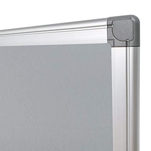 BEST BOARD Notice Board, Pin Board, Bulletin Board, Message Board, Fabric Board, Memo Board, Felt Board, Gray, 24 x 36 Inches, Silver Aluminum Frame Photo #4