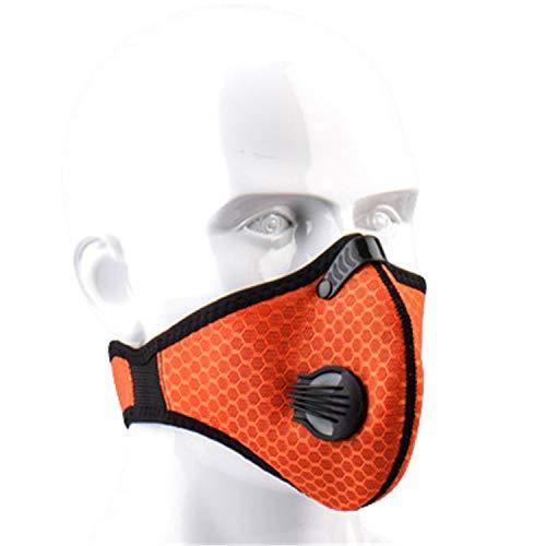 JPOJPO Máscara deportiva prueba polvo 2 filtros carbono