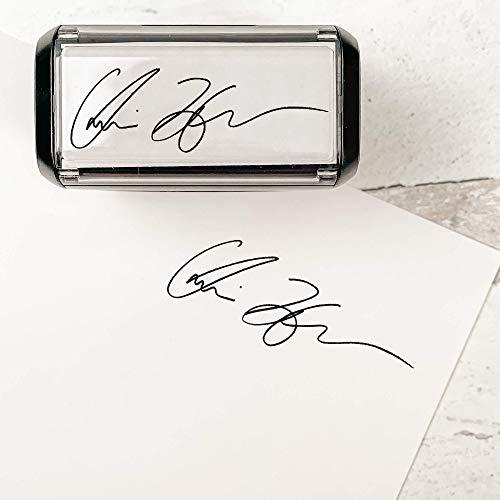 Custom Signature Stamp - Self Inking Personalized Signature Stamp