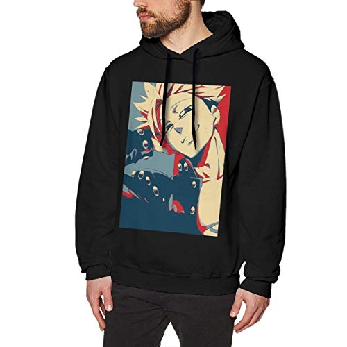 HKGJG The Seven Deadly Sins - Greed - Ban Anime Sweatshirt for Men Hoodies Black
