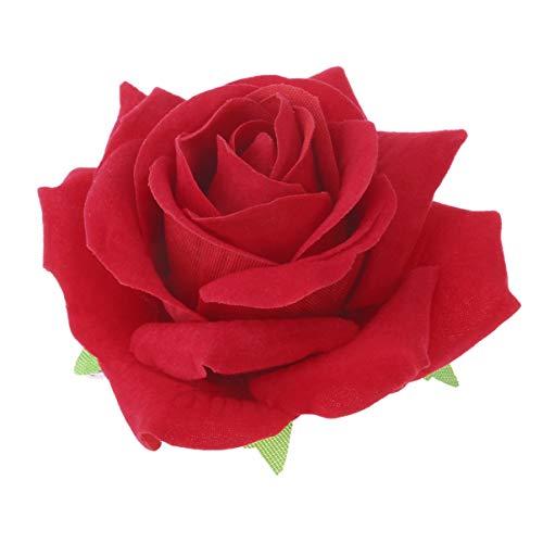 SOLUSTRE 2 Piezas 2 en 1 Broches para El Pelo de Flores Rosas Grandes Broches Accesorios para Mujer Niña Novia (Rojo)