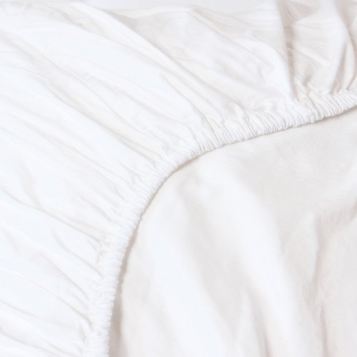 Heckett Lane Uni Satijn Hoeslaken 180x200+35 cm - Wit