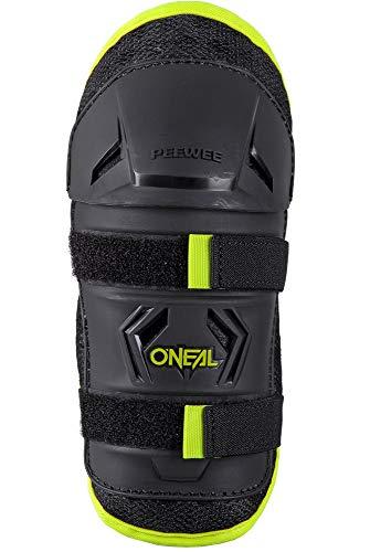 O'NEAL | Knieprotektor | Kinder | Motocross Fahrrad MX MTB Mountainbike | Bequeme und dynamische Passform, geeignet im Alter von 4-9 Jahren | Peewee Knee Guard | Schwarz Neon-Gelb | M/L