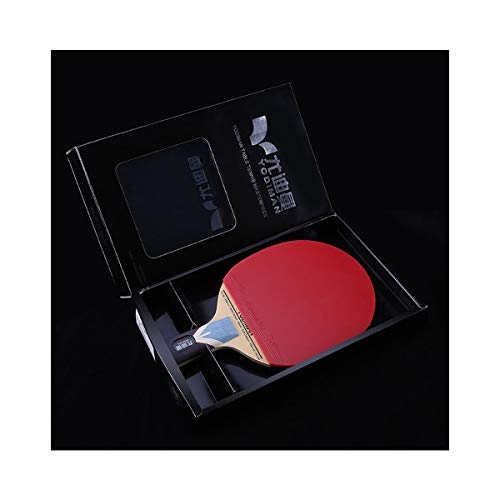 Best Buy! SHENGSHIHUIZHONG Table Tennis Racket, Red and Black Carbon Table Tennis Professional Grade...
