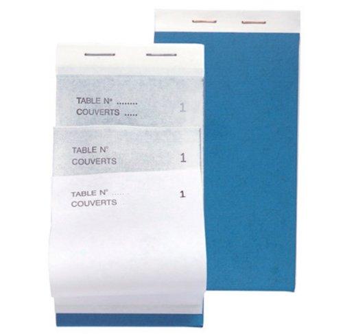 Exacompta 96204E Paquet de 10 Blocs Maitre d'Hôtel format vertical comprenant 50 feuilles tripli 17 x 9,6 cm