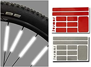 Bike Reflectors Set - Bike Spoke Reflectors, Front and Rear Reflector Stickers - Make Your Bicycle More Visible to All Directions in The Dark. Fits to Spokes 14 and 15 Gauge (1.8-2.0mm)
