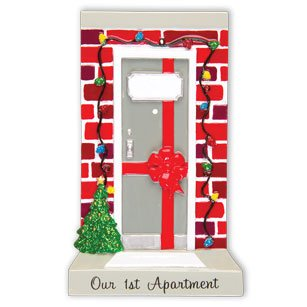 Grantwood Technology Personalized Christmas Ornament KIT New Apartment Door Our 1ST Apartment KIT