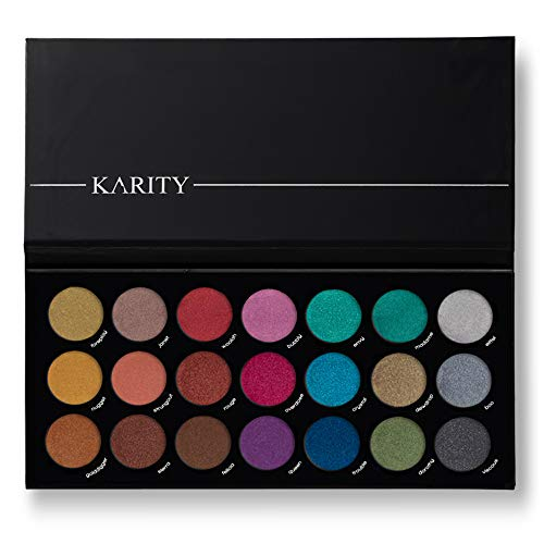 21 Highly Pigmented Professional Eyeshadow Palette Eye Shadow Makeup Kit Set Pro Palette High-end Formula (Frost, Shimmer) by Karity Cosmetics
