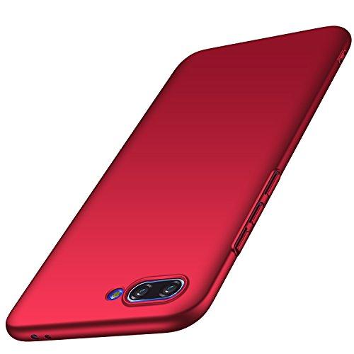Anccer Funda Huawei Honor 10 [Serie Colorida] [Ultra-Delgado] [Ligera] Anti-rasguños Estuche para Case Huawei Honor 10 (Rojo Liso)