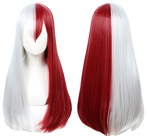 Linfairy Half Red and Sliver Cosplay Wig