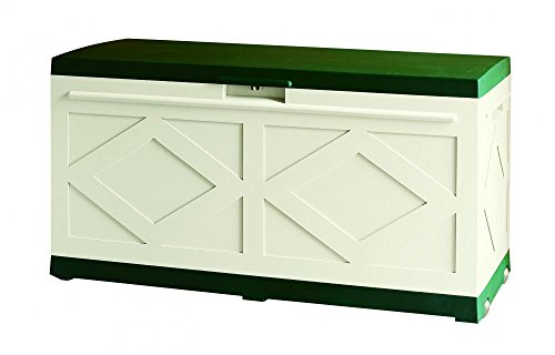 Ideapiu Baúl para Exterior, Box, Baúl con Ruedas de plástico, Caja Multiusos