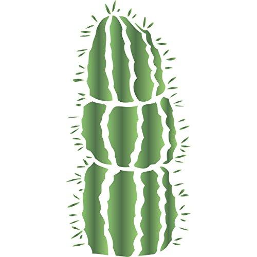 Mexikanischen Zaunpfosten Kaktus Schablone–16,5x 35,5cm–wiederverwendbar Kaktus Wand Schablonen für Malerei–zur Verwendung auf Papier Projekte Poster Wände Böden Stoff Möbel Glas Holz usw.