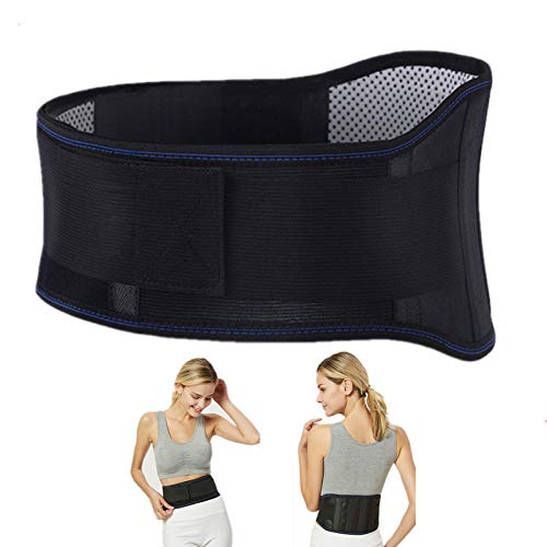 Thermal Magnetic Therapy Lumbar Support Belt Lower Back Brace for Men and Women, Self-Heating Waist Strap with Gauss Magnets(M)