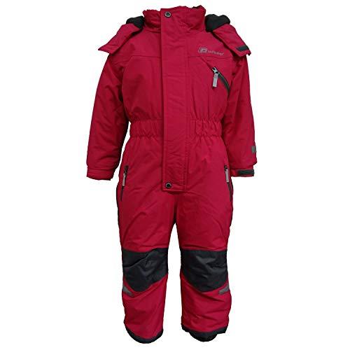 Outburst - Kinder Mädchen Kleinkinder Funktions-Skioverall Schneeanzug gefüttert wasserdicht 10.000 mm Wassersäule atmungsaktiv Winddicht, pink - 3713962, Größe 122