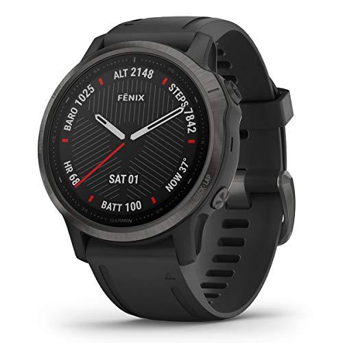 Garmin - Reloj GPS con Pulsómetro Fenix 6S Zafiro Garmin, L (010-02159-25)