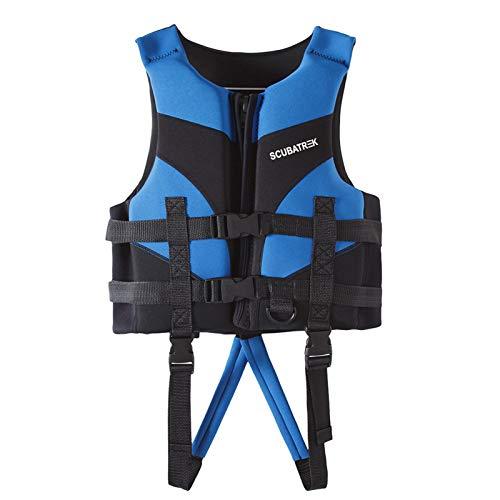 IvyH Chaleco de Natación para Niños, Chaleco de Chaqueta Flotante Niño Chaleco de Flotación Neopreno Traje de baño Chaleco de Ayuda a la Natación el Verano(Azul S)