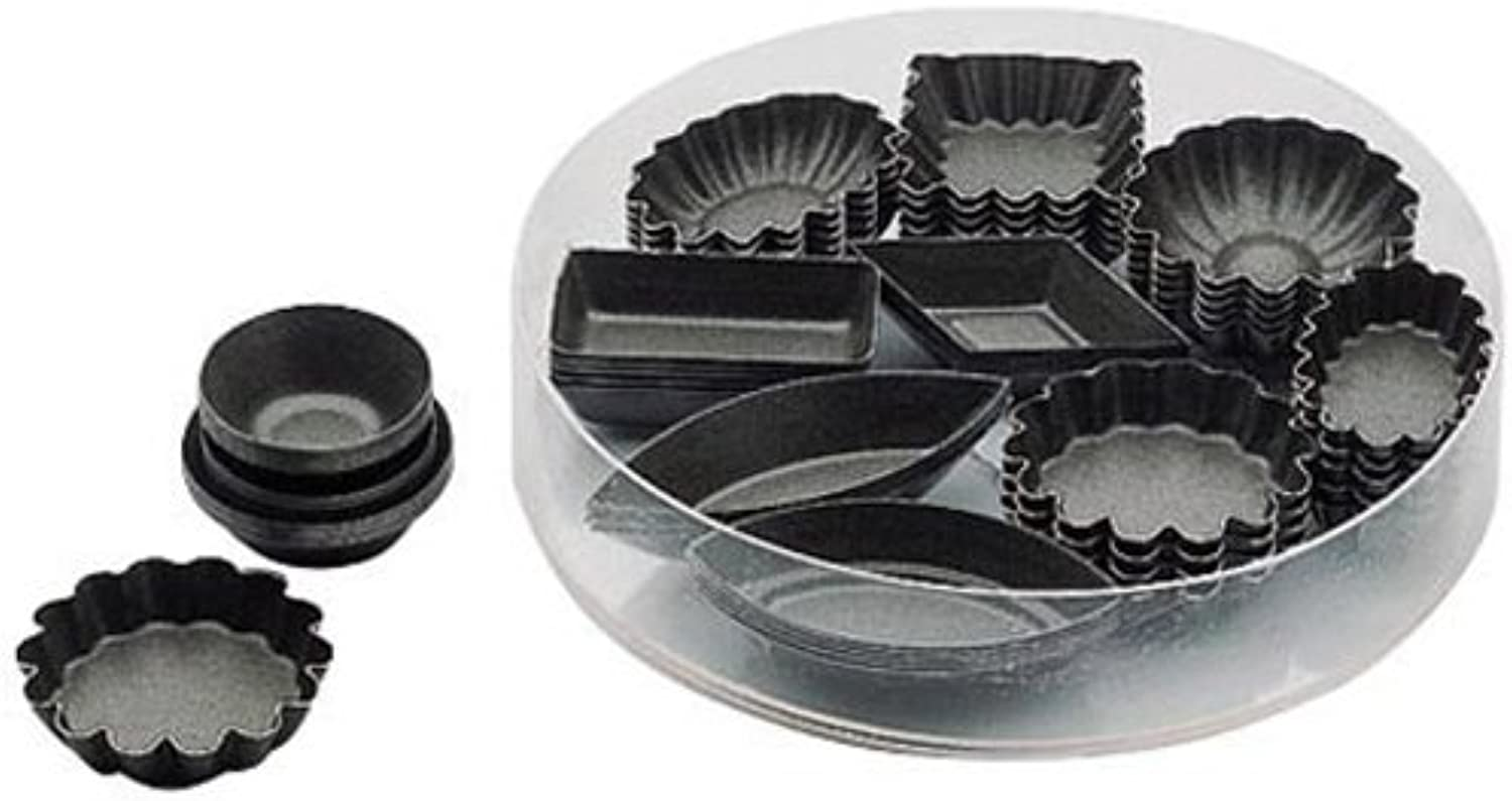 Paderno World Cuisine Petit Fours Non-Stick Molds, PTFE and PFOA-Free, Set of 24