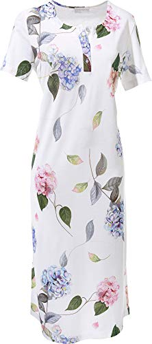 Hutschreuther Damen-Nachthemd Single-Jersey weiß/blau/rosa Größe 36