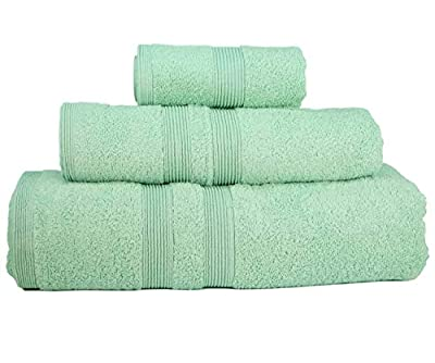 Christmas Gifts Luxury Towel Set (3 Towels) Bath Spa Hotel Premium Turkish Loop Terry 100% Natural Cotton Comfortable Super Soft