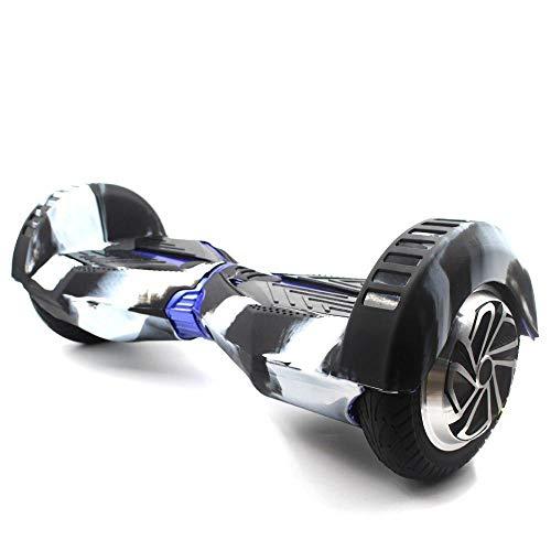 Funda de protección de silicona 360 para Hoverboard de 8 pulgadas (Mix blanco y negro)