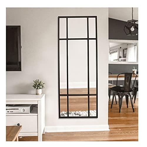 DIREKTE IMPORT Standspiegel - Ganzkörperspiegel   Spiegel Schwarz, aus Metall – Spiegel groß   [H 180* B 90* T 3cm]   Wandspiegel Designed in Dänemark vertikal/horizontal