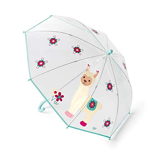 Sterntaler Regenschirm Kuschelzoo, Lama Lotte, Alter: Kinder ab 3 Jahren, Weiß/Bunt