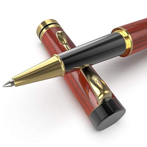 Wordsworth & Black's Luxury Wooden Rollerball Pen Set- Refillable Pen, Gift Case;...