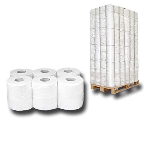 Palette Jumbo-Toilettenpapier, Jumbo-Rollen, Klopapierrollen, WC-Papierrollen, 2 lagig Zellstoff ca. 18cmx150m - Premium