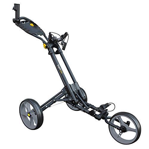 Masters Golf - Icart un - 3 Roue Pousseur Chariot Noir/Gris