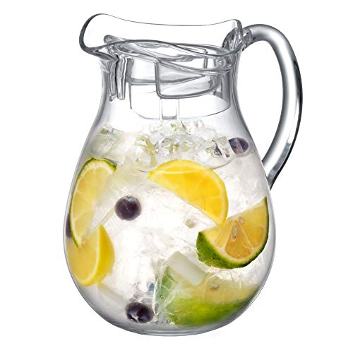 Amazing Abby - Bubbly Mini - Acrylic Mini Pitcher (36 oz), Clear Plastic Pitcher, BPA-Free and Shatter-Proof, Great for Lemonade, Juice, Milk, and More, Perfect for Montessori Preschool Kids