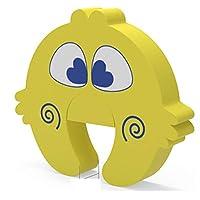 ドア指はさみ防止 厚さプラス ドアストッパー玄関 ドア掛け式 ドアロック 子供・赤ちゃん用ドアロック 赤ちゃん、ペット 玄関 使用便利 3個セット 黄色 (黄色)