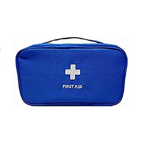 Yuanyuanliu Al Aire Libre portátil Kit de Primeros Auxilios medicamentos medicamentos Bolsa de Almacenamiento de Viaje Supervivencia Salvaje Kit médico de Emergencia hogar (Color : Blue)
