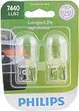 Philips 7440LLB2 7440 LongerLife Miniature Bulb, 2 Pack