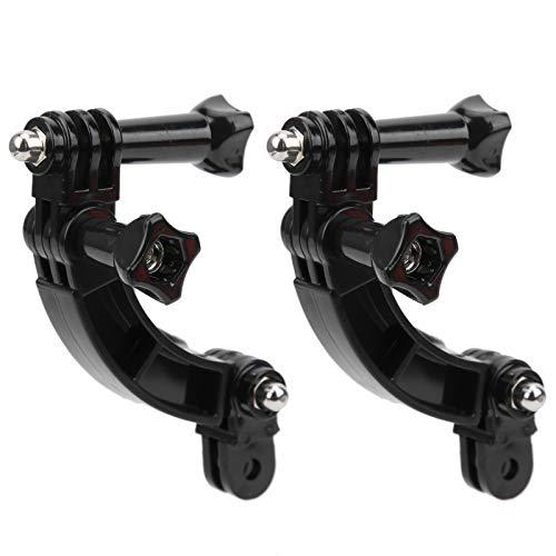 2 juegos de montaje de cámara de cabeza de ciclismo portátil, soporte de monopié ajustable y duradero para montañismo, camping, ciclismo