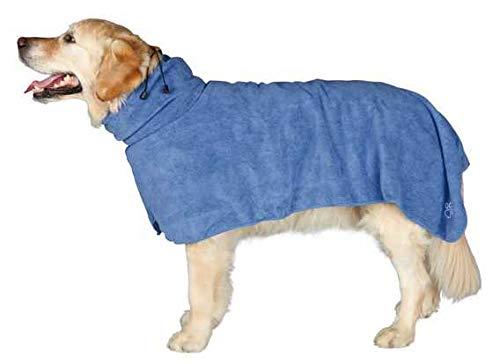 Trixie Bademantel/Hunde, Gr. L, Mikrofaser, 60 cm, blau