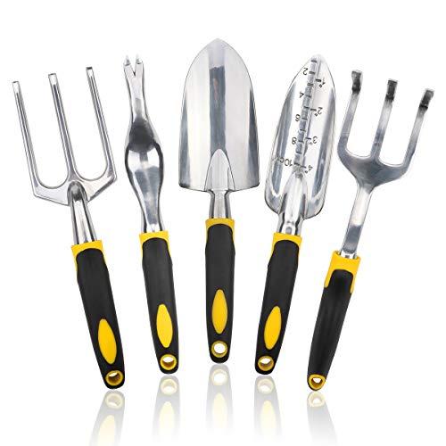 Dsaren 5 Piezas Set Herramientas Jardin Juego Herramientas de Jardineria de Aluminio...