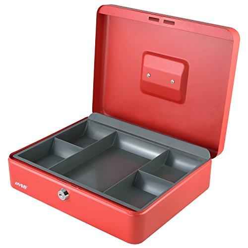 HMF 10130 geldcassette 30 x 24 x 9 cm rood