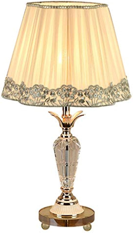 LED Tisch Kreative Romantische Augenschutz Tischlampe Nachttisch Taste Schalter Kristall Lampe tischlampe