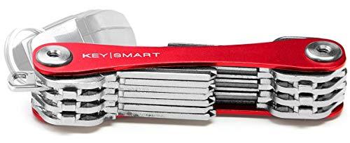 KeySmart Extended | Kompakter Schlüsselhalter und Schlüsselbund Organisator (2-22 Schlüssel, Rot)