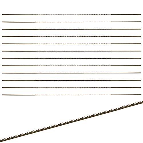 NewZC 12 Pcs Lame da Traforo Lame Per Seghe a Telaio Lame Traforo Elettrico Lama per Sega a Mano per Legno Metallo Plastica (1 # 130 Mm)