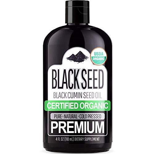 Organic Black Seed Oil (100% Pure & Natural Black Cumin Seed Oil - USDA...